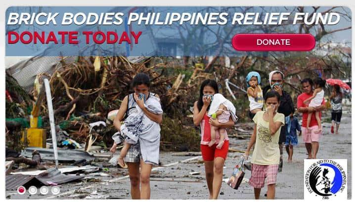 Brick Bodies donates to Typhon Relief