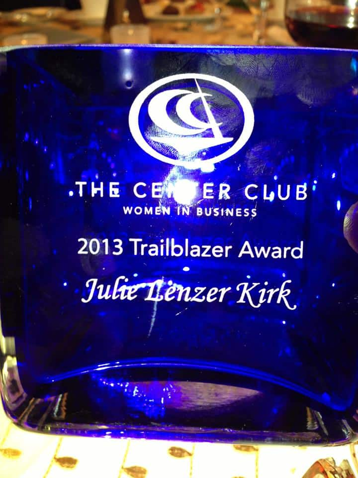 women in business intraclub at the Center Club Trailblazer Awards 2013