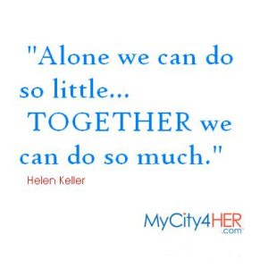 Who is Helen Keller on MyCity4HER.com